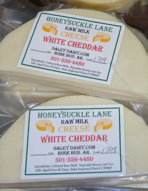 Gotta have cheese with your bread! Raw milk cheese from Honeysuckle Lane in Rose Bud, AR.