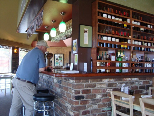 The restaurant has a full bar featuring organic wines and beers, natural sodas, organic coffee and teas.