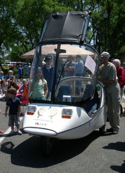Twike, a zero emissions vehicle, made an appearance at the festival.