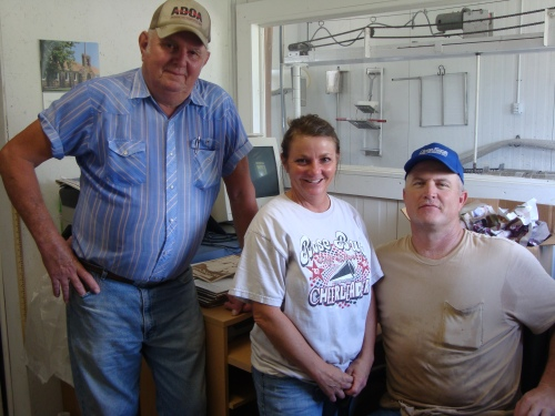 Ray Sr., Cindy, and Ray Daley, Jr. - the people behind Honeysuckle Lane Cheese.