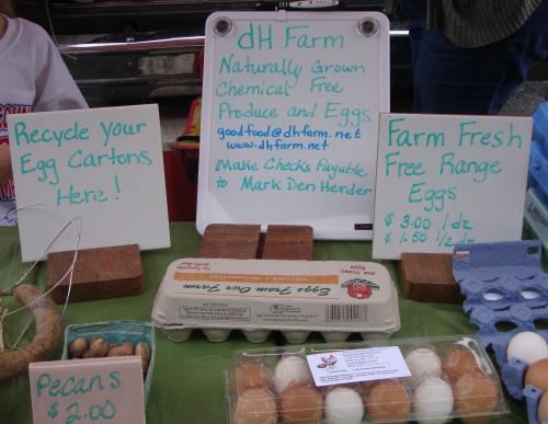 Farm fresh free-range eggs.
