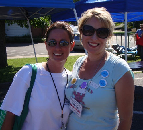 Michelle Sestili and Courtney Butler, two of main brains behind the Hot Springs E-Day. You guys ROCK!!!