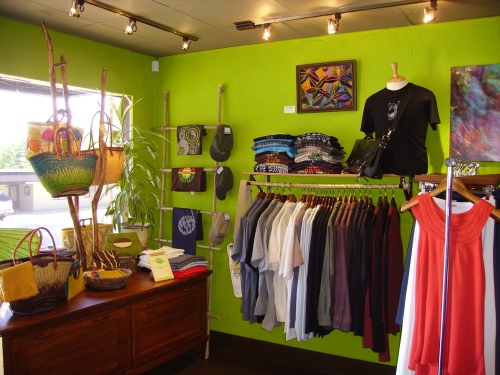 Good Things Boutique offers a unique assortment of organic clothing, fair trade accessories, and natural home decor.
