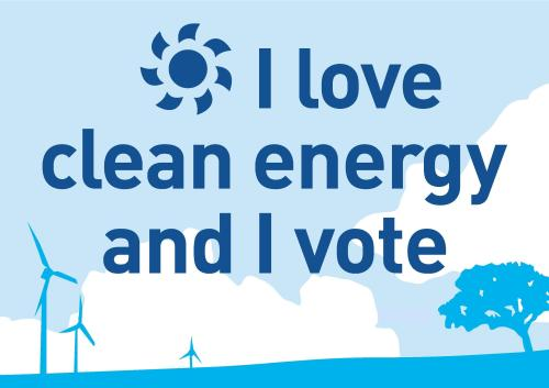 i love clean energy sign