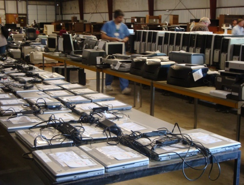 Looking for a computer? Arkansas State Surplus Warehouse has TONS of them, priced around $100-200.