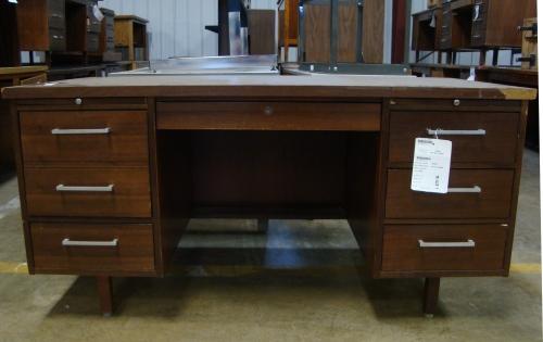 A Danish Modern desk for $35.