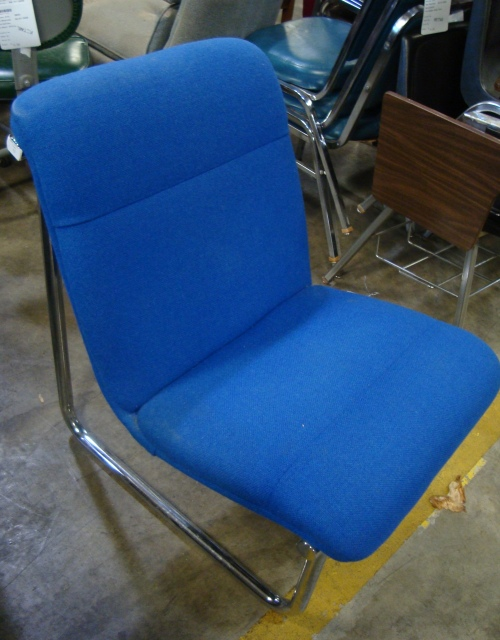 A cool looking blue chair for $10.