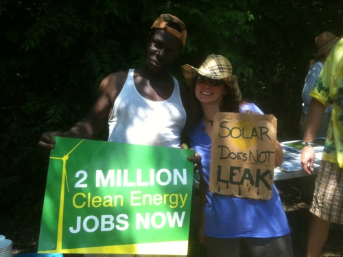 Solar does not leak! 2 Million Clean Energy Jobs NOW!
